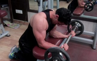 Seated Palm Up Barbell Wrist Curl - Parambodyfitmind