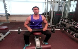 Incline Bench Front Barbell Raise
