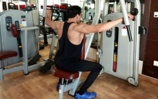 Rear Delt On Seated Fly Machine