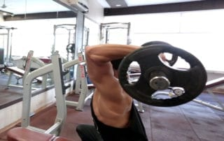 Seated Ez-Bar Overhead Triceps Extension