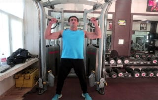 Standing Cable Shoulder Press