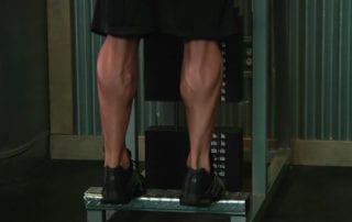 Standing Calf Raises Machine Exercise
