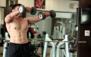 Standing Front Two-Dumbbell Raise