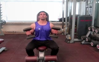 Supported Dumbbell Shoulder Press