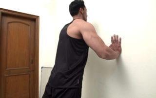 wall push-ups exercise image