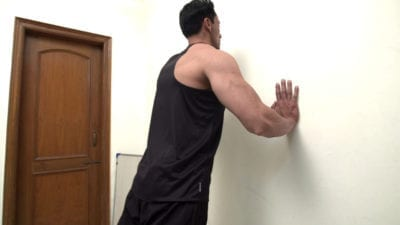 Wall Push Ups Exercise