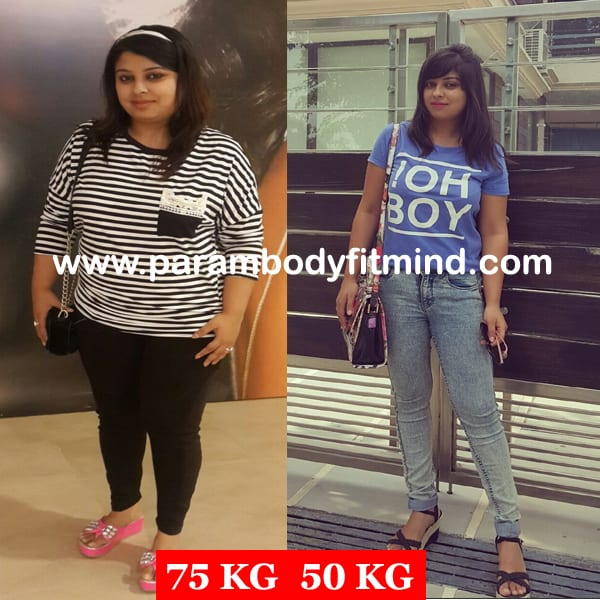 Female before after weight loss picture