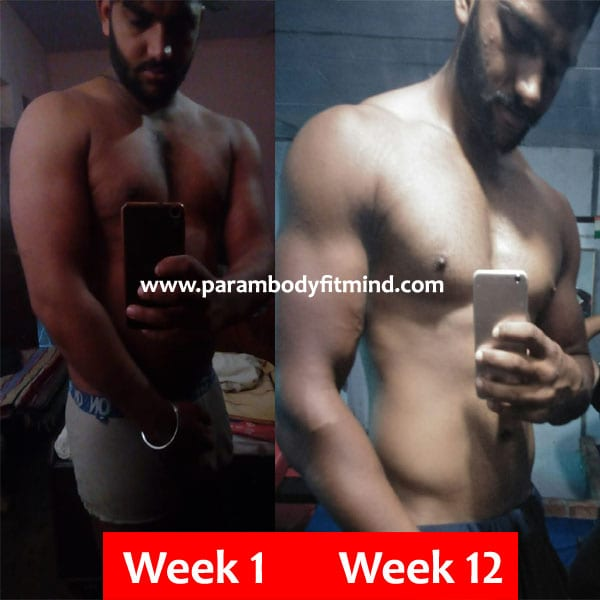 lean gain body transformation of gurjant randhawa