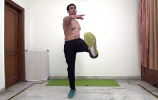 Jumping jacks with toe touch Exercise