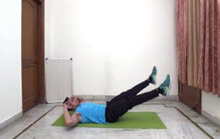 On Mat feet together leg raise Exercise