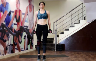 Standing Calf raise with dumbbell - Parambodyfitmind
