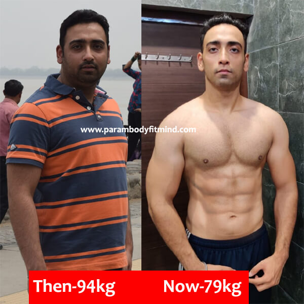 Body transformation with six Pack abs