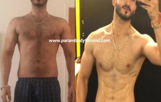 natural body transformation picture of mani pabla