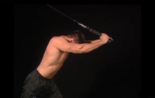 Cable Bent over Triceps Extension Exercise