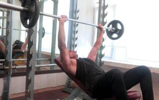 regular grip incline barbell bench press
