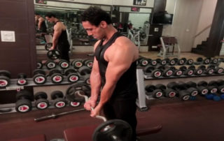 Close Grip Ez bar Biceps Curl Exercise