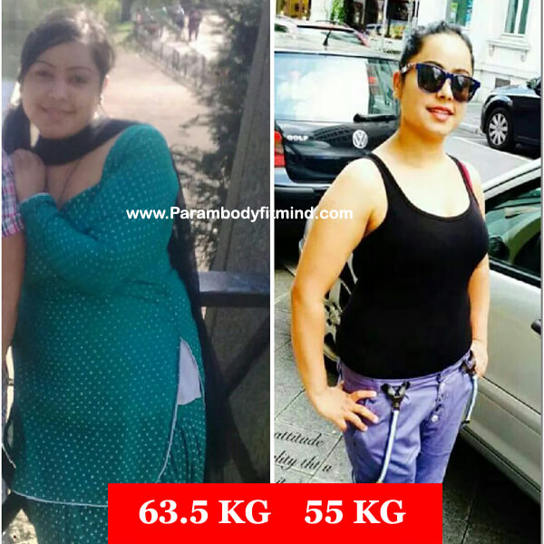 online personal trainee Female weight loss before after picture