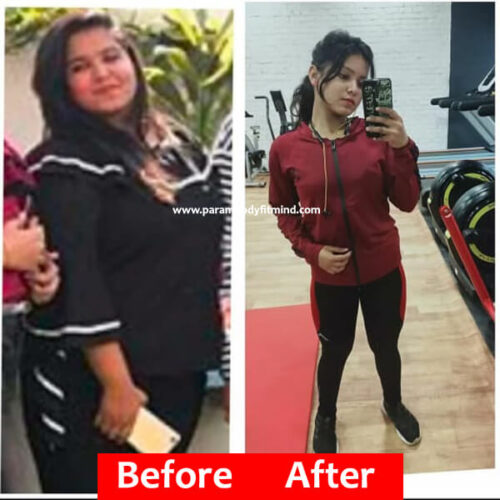 weight loss female before and after picture